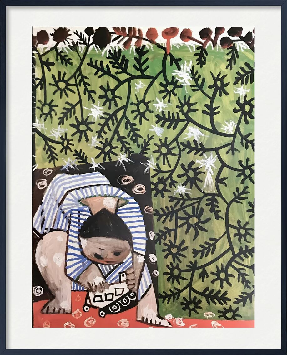Playing Child - Picasso von AUX BEAUX-ARTS, Prodi Art, abstrakt, Kind, Malerei, Picasso