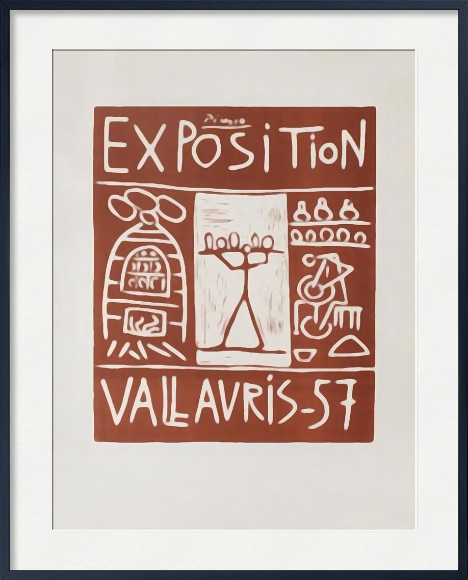 Poster 1957 - Exhibition Vallauris - Picasso from AUX BEAUX-ARTS, Prodi Art, exhibition poster, picasso