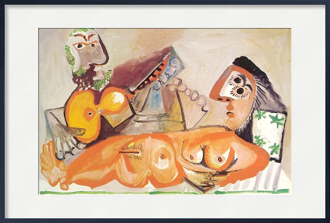 Reclining Nude and Musician - Picasso from AUX BEAUX-ARTS, Prodi Art, painting, picasso, nude, music