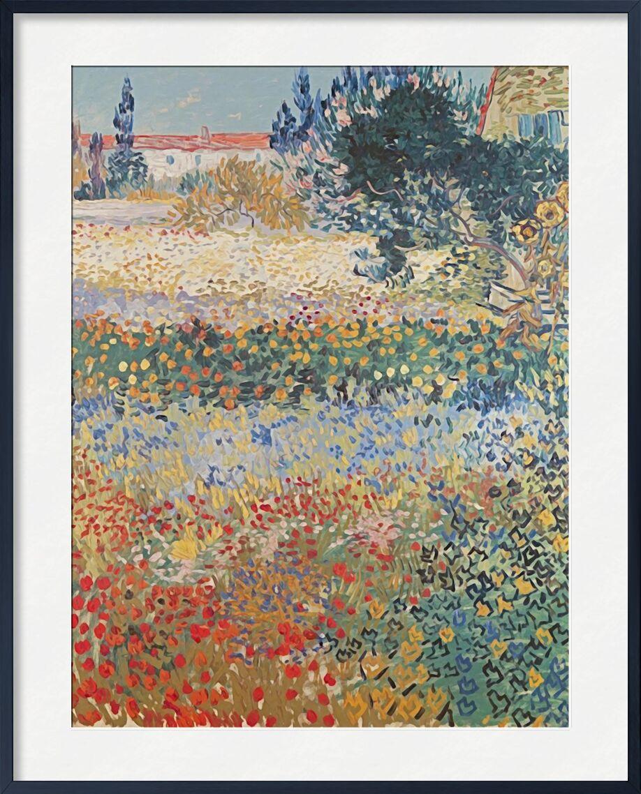 Garden in Bloom Arles - Van Gogh von AUX BEAUX-ARTS, Prodi Art, Garten, Blumen, Landschaft, Malerei, Van gogh