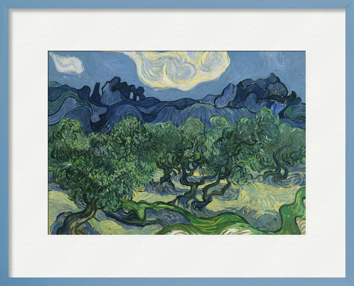 The Olive Trees - Van Gogh from AUX BEAUX-ARTS, Prodi Art, abstract, Van gogh, fields, nature, olive trees