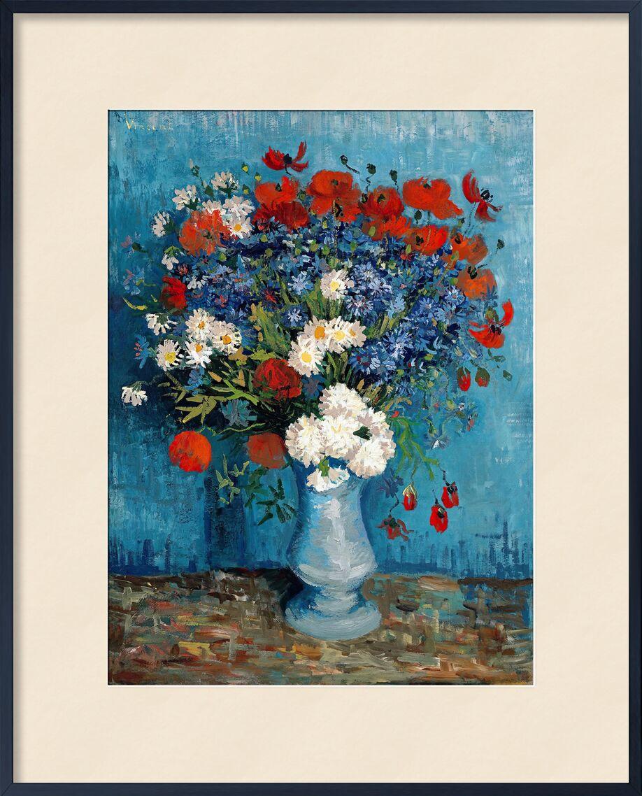 Still Life: Vase with Cornflowers and Poppies - Van Gogh von AUX BEAUX-ARTS, Prodi Art, Van gogh, Stillleben, Malerei, Mohnblumen, Blaubeeren
