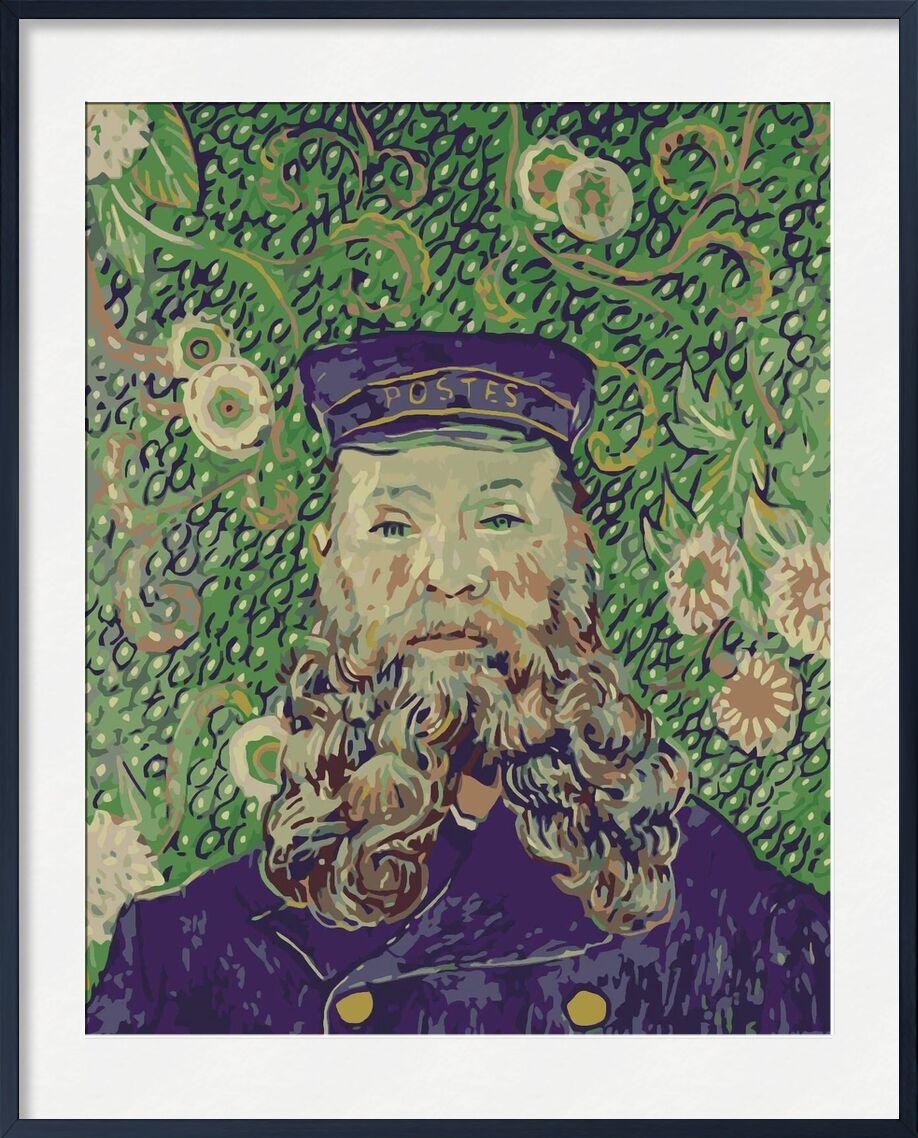 Portrait of the Postman Joseph Roulin - Van Gogh von AUX BEAUX-ARTS, Prodi Art, Van gogh, Malerei, Porträt, Briefträger, Post, Mail