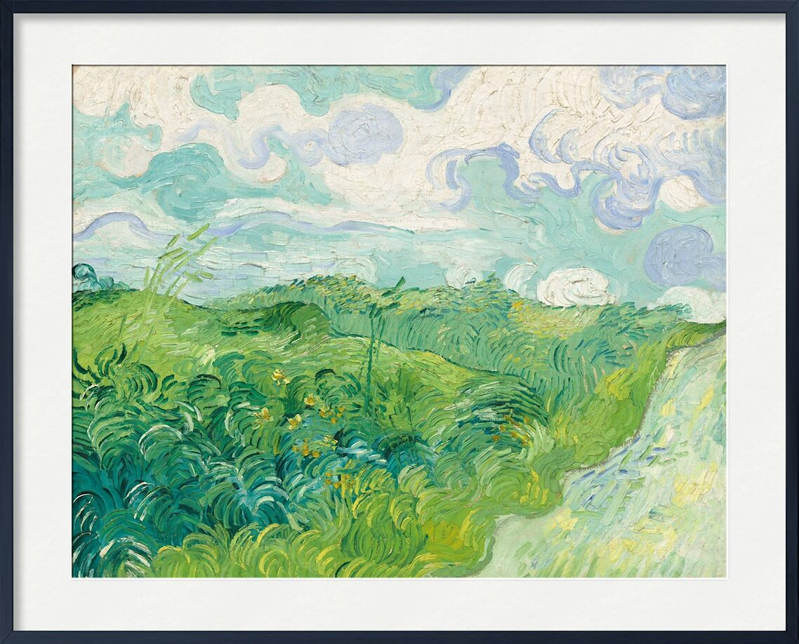 Green Wheat Fields, Auvers - Van Gogh von AUX BEAUX-ARTS, Prodi Art, Himmel, Landschaft, Weizenfelder, Van gogh, Malerei, Wolken