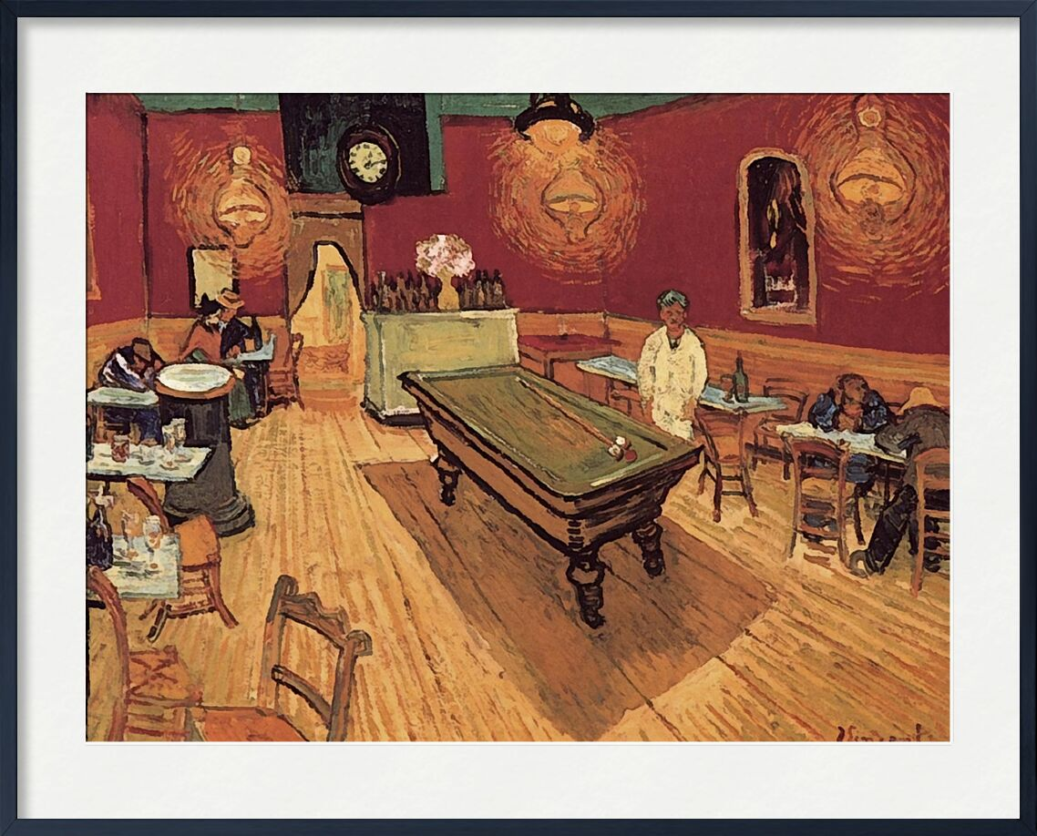 Night Cafe - Van Gogh from AUX BEAUX-ARTS, Prodi Art, Van gogh, painting, coffee, billiards