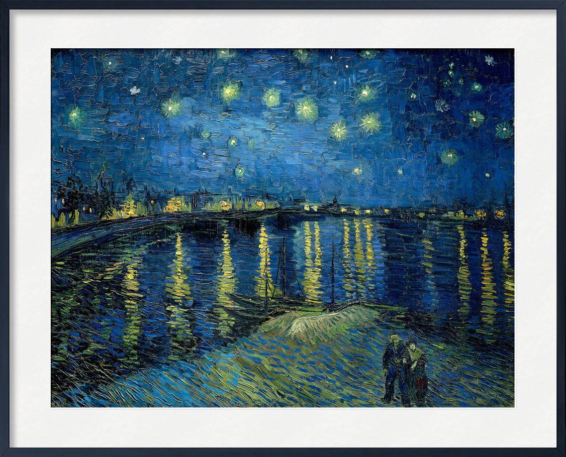 The Starry Night - Van Gogh from AUX BEAUX-ARTS, Prodi Art, Van gogh, night, port, city, stars, lights, couple, water