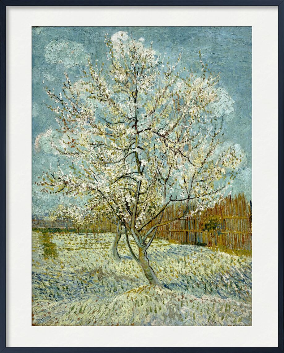 The Pink Peach Tree - Van Gogh from AUX BEAUX-ARTS, Prodi Art, Van gogh, painting, tree, nature