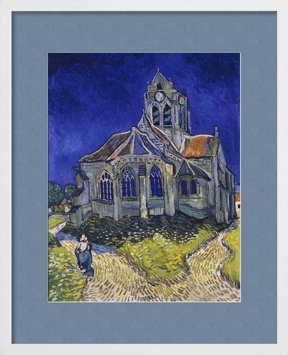 Auvers - Van Gogh von AUX BEAUX-ARTS, Prodi Art, Van gogh, Kirche, Malerei, Haus, Himmel