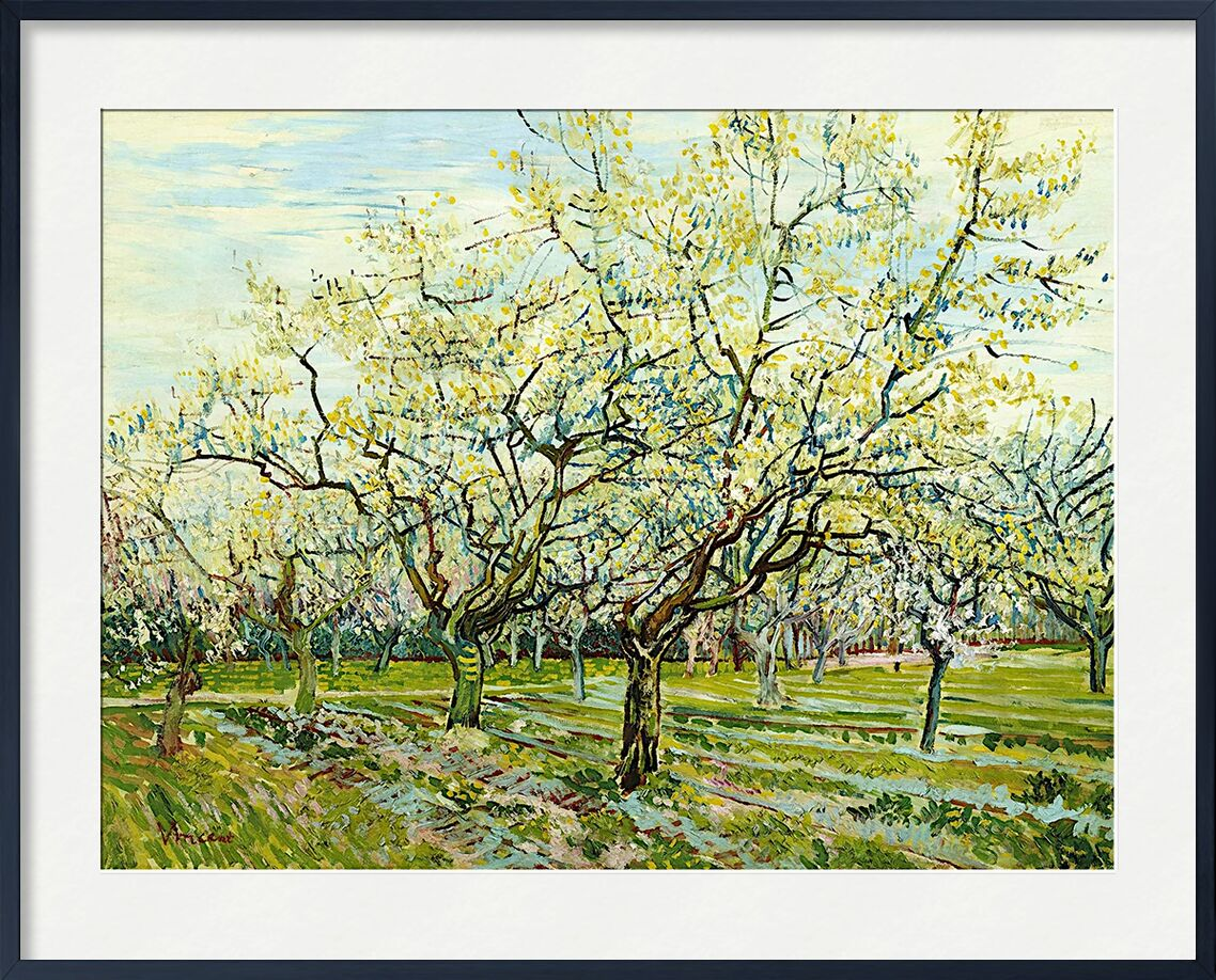 The White Orchard - Van Gogh from AUX BEAUX-ARTS, Prodi Art, Van gogh, landscape, agriculture, peasant, Orchard