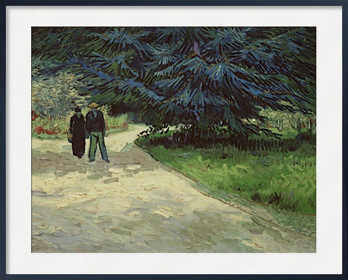 Couple in the Park - Van Gogh from AUX BEAUX-ARTS, Prodi Art, Van gogh, painting, couple, park, tree, path, vegetables