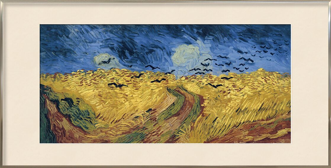 Wheatfield with Crows - Van Gogh from AUX BEAUX-ARTS, Prodi Art, Van gogh, painting, wheat, fields, crows