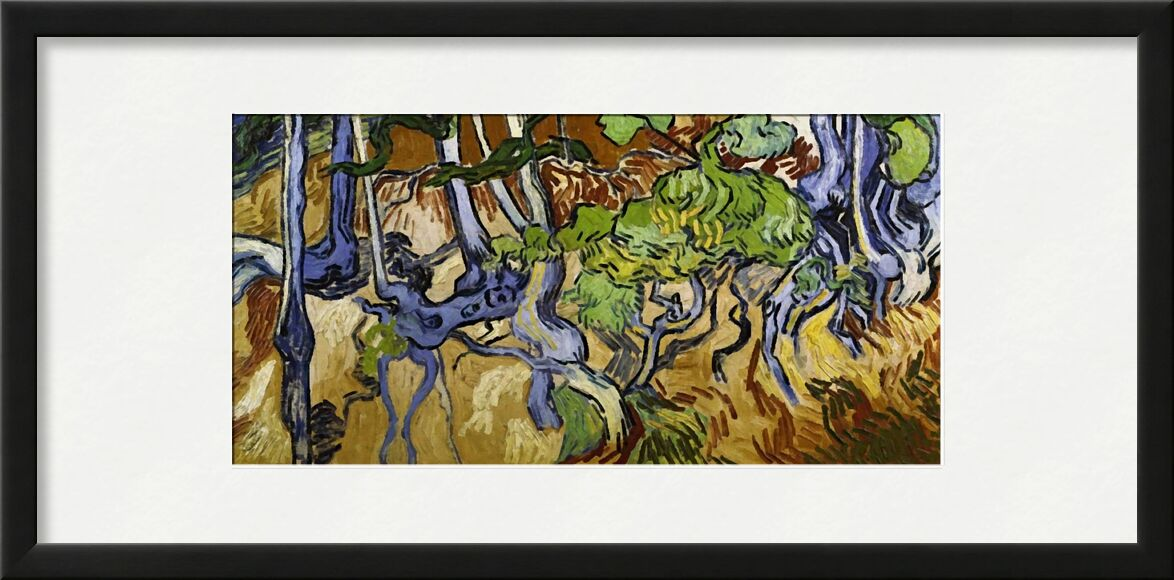 Tree Roots and Tree Trunks - Van Gogh from AUX BEAUX-ARTS, Prodi Art, Van gogh, nature, wine, roots, vines