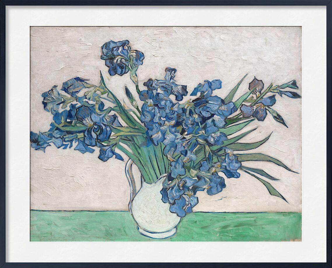 Irises - Van Gogh von AUX BEAUX-ARTS, Prodi Art, Van gogh, Malerei, Iris, Stillleben, Blumen, Bündel, Blumenstrauß