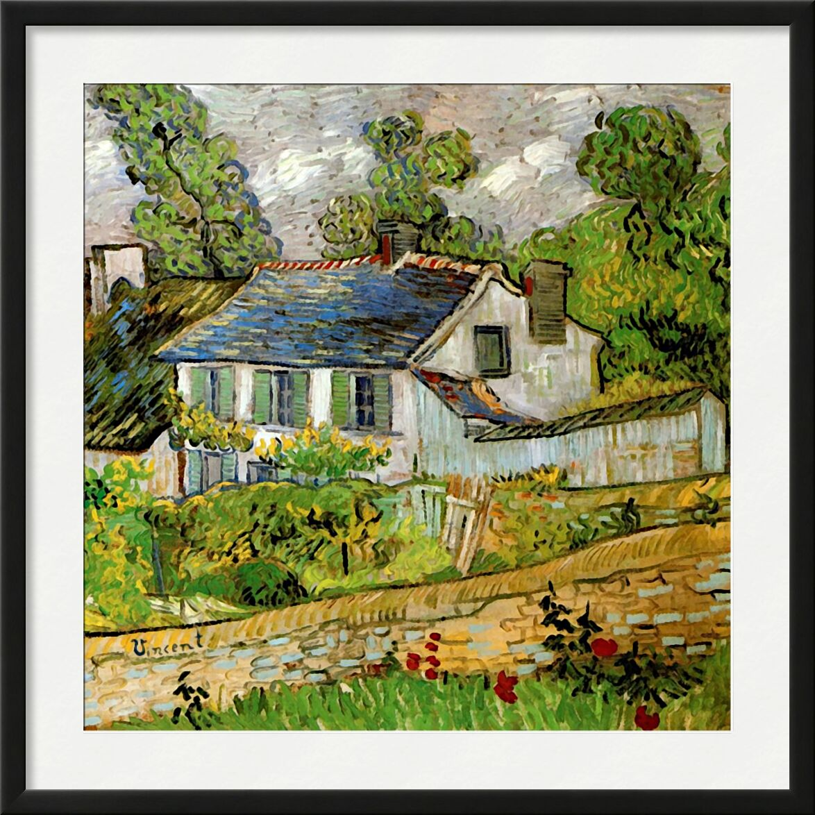 House in Auvers - Van Gogh from AUX BEAUX-ARTS, Prodi Art, Van gogh, painting, House, France, over