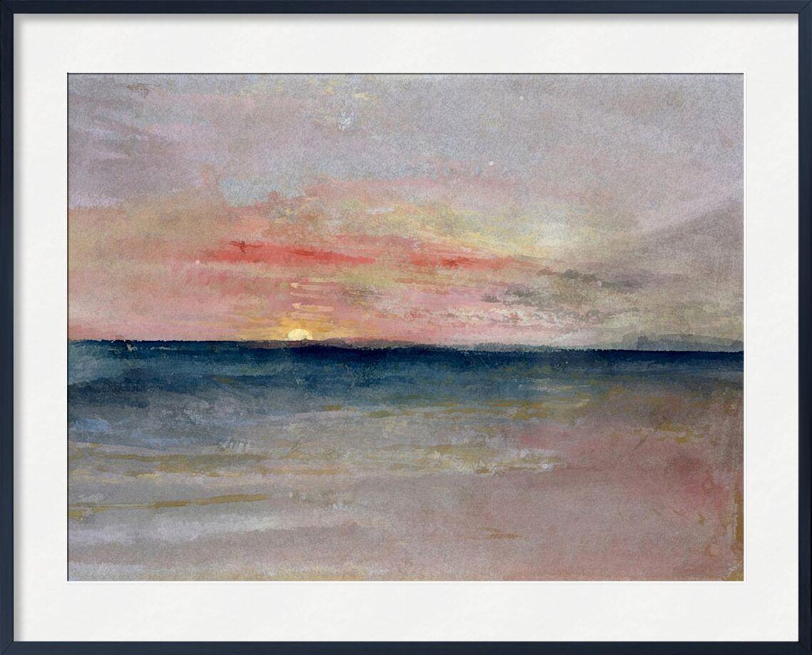 Sunset - TURNER desde AUX BEAUX-ARTS, Prodi Art, TORNERO, verano, playa, mar, cielo, sol, pintura, puesta del sol