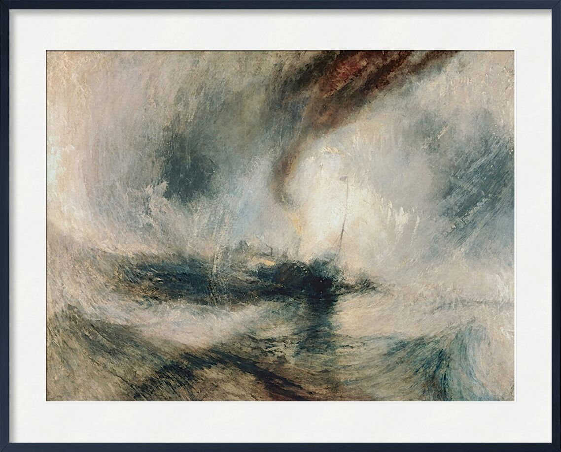 Snowstorm at Sea - TURNER from AUX BEAUX-ARTS, Prodi Art, TURNER, storm, snow, sea, boat