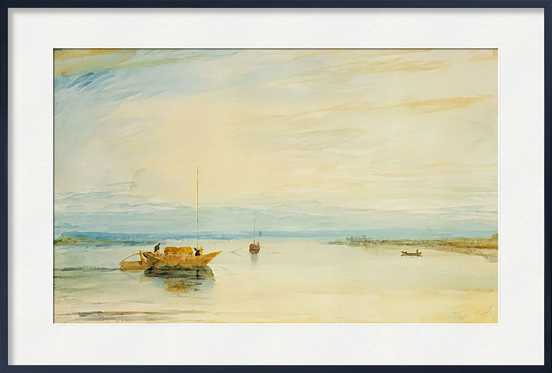 Mainz - TURNER from AUX BEAUX-ARTS, Prodi Art, TURNER, painting, lake, boat, sky, Sun