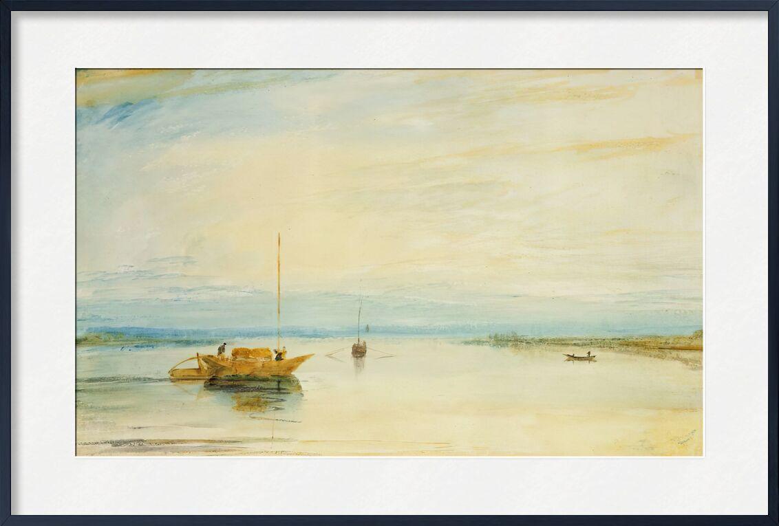 Mainz - TURNER de AUX BEAUX-ARTS, Prodi Art, TOURNEUR, peinture, Lac, bateau, ciel, soleil