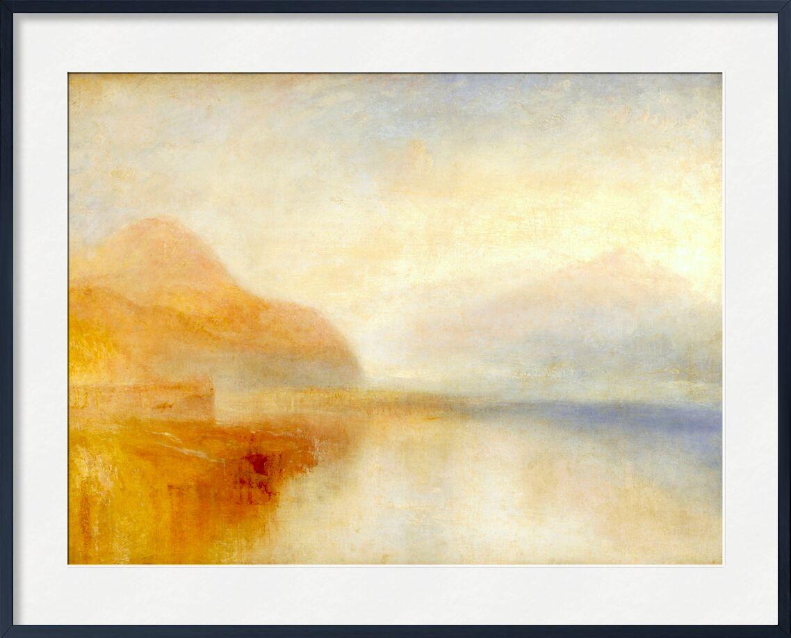 Inverary Pier, Loch Fyne, Morning - TURNER from AUX BEAUX-ARTS, Prodi Art, TURNER, quai, port, mountains, sea, sky