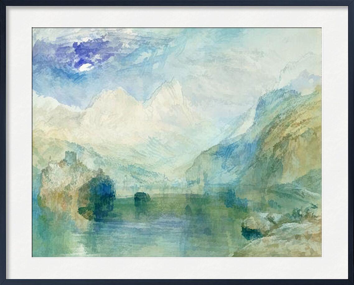 The Lowerzer See - TURNER von AUX BEAUX-ARTS, Prodi Art, TURNER, See, Berge, Malerei