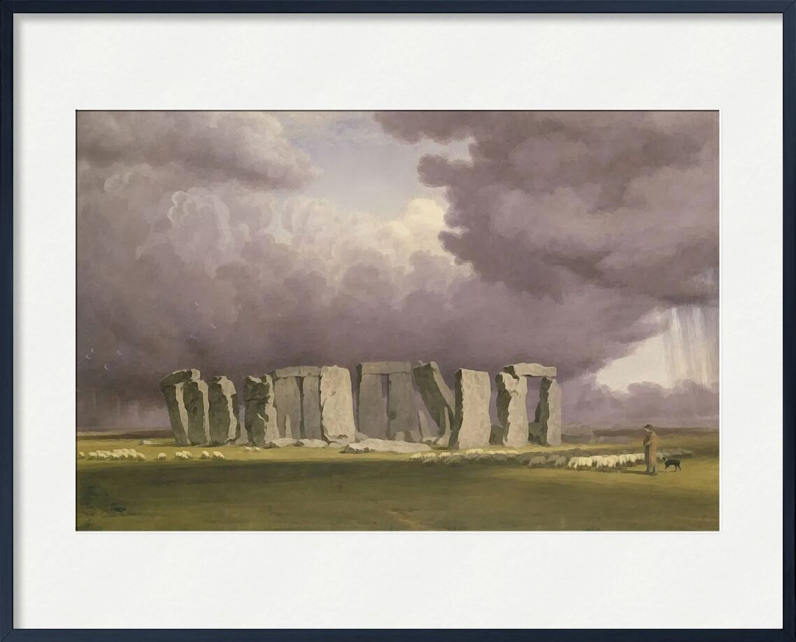 Stonehenge: Stormy Day from AUX BEAUX-ARTS, Prodi Art, TURNER, painting, england, storm, Stonehenge
