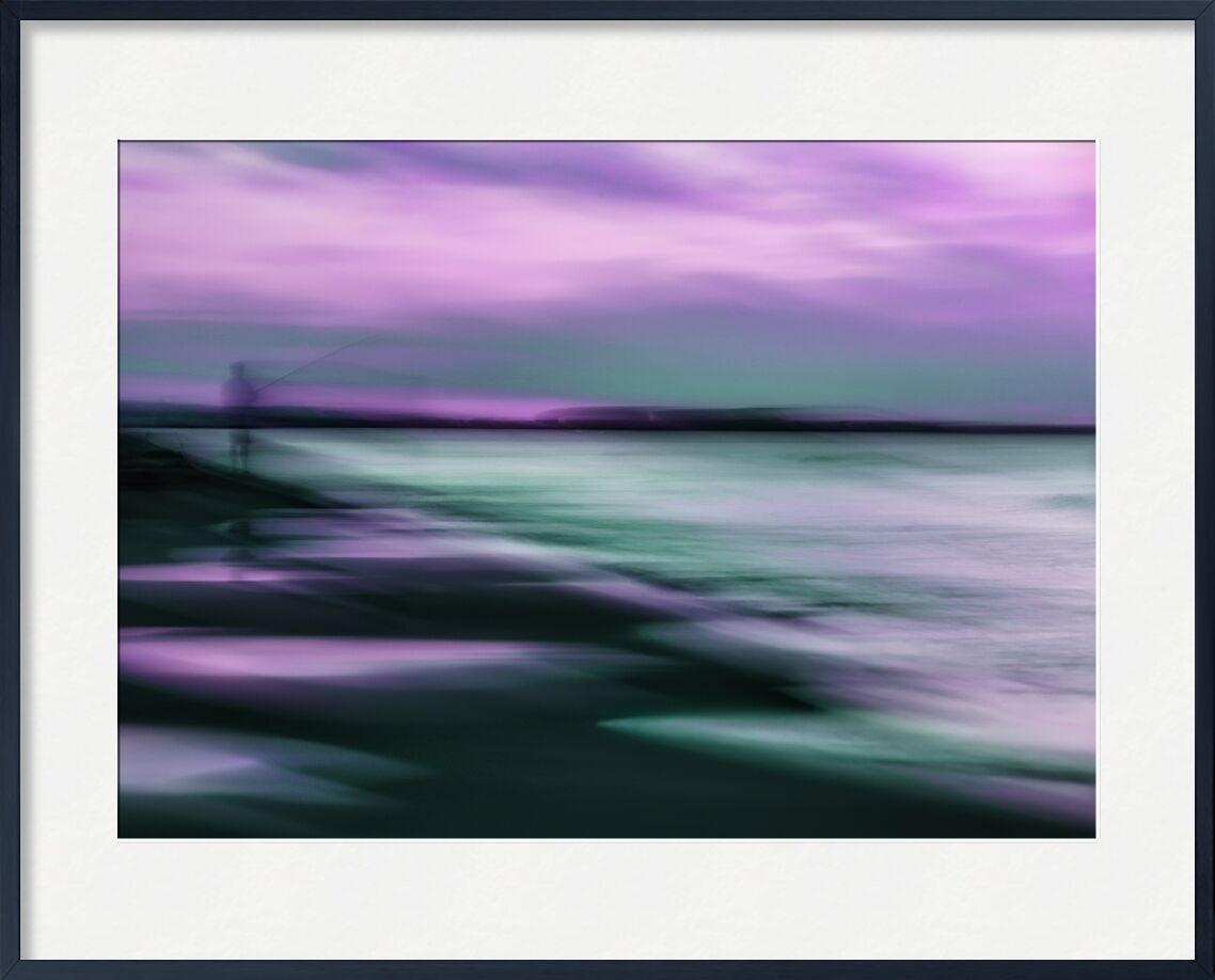 Le pêcheur de Céline Pivoine Eyes, Prodi Art, Photographie abstraite, art abstrait, Impressionnisme, flou artistique, Mouvement intentionnel de la caméra, ICM, nature, paysage, violet, pêche, gruissan, plage, mer, pêcheur