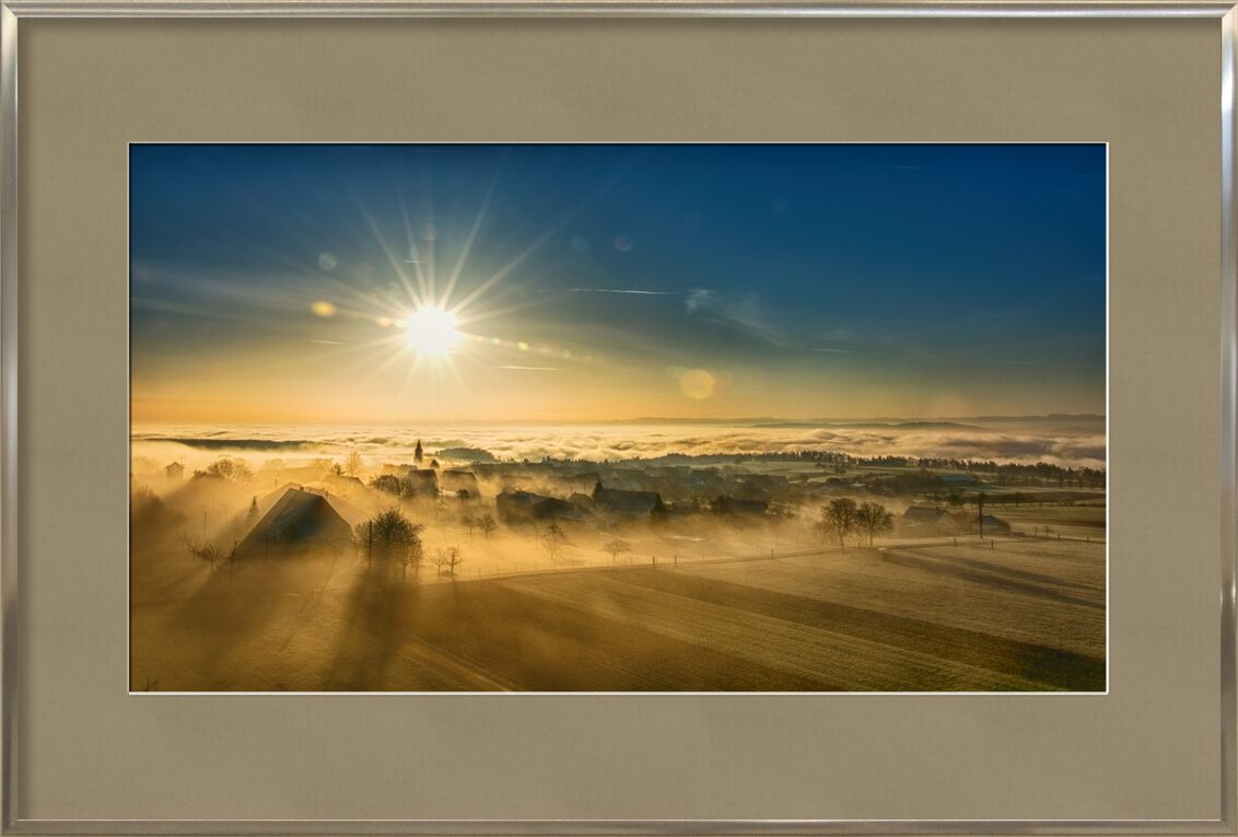 Winter Fog from Pierre Gaultier, Prodi Art, landscape, fog, mood, sunrise, coloring, autumn, nature