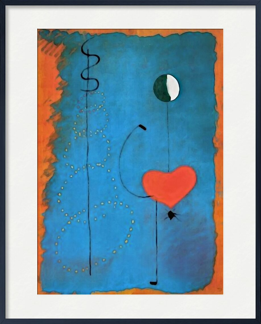 Ballerina - Joan Miró from AUX BEAUX-ARTS, Prodi Art, Joan Miró, drawing, heart, music, singing, dance, Dancers