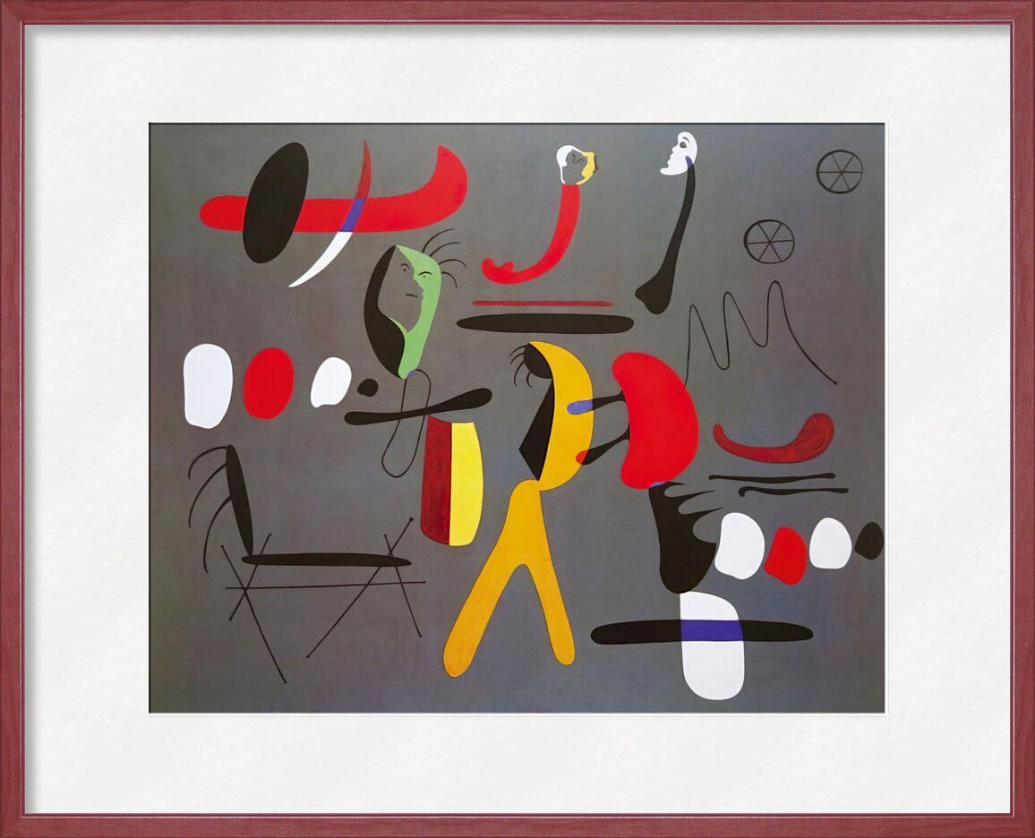 Collage Painting - Joan Miró von AUX BEAUX-ARTS, Prodi Art, Joan Miró, Malerei, Collage, abstrakt, Zeichnung, Formen und Farben