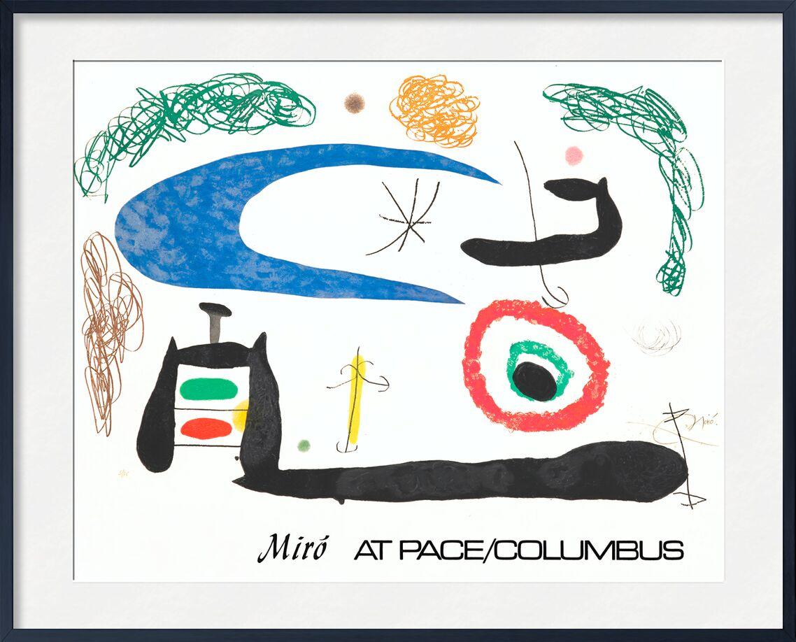 Sleeping under the Moon - Joan Miró desde AUX BEAUX-ARTS, Prodi Art, Joan Miró, pintura, abstracto, luna