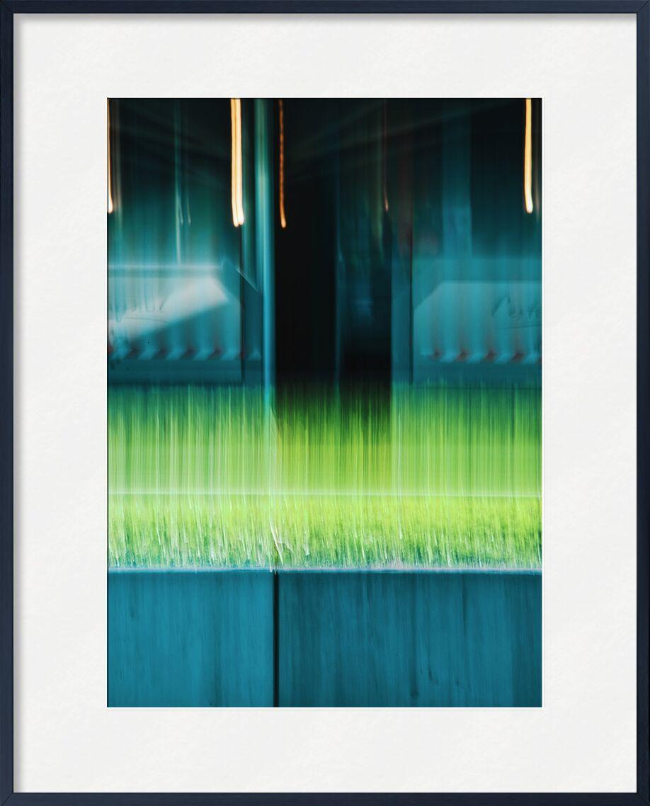 Le restaurant de Céline Pivoine Eyes, Prodi Art, flou artistique, Photographie abstraite, art abstrait, lignes, vert, restaurant, Devanture, Mouvement intentionnel de la caméra, ICM, narbonne