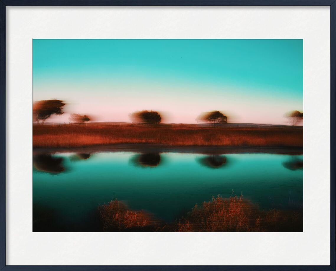 Les trois arbres de Céline Pivoine Eyes, Prodi Art, flou artistique, vert, eau, arbres, Voyage, paysage, nature, Photographie abstraite, art abstrait, Mouvement intentionnel de la caméra, ICM