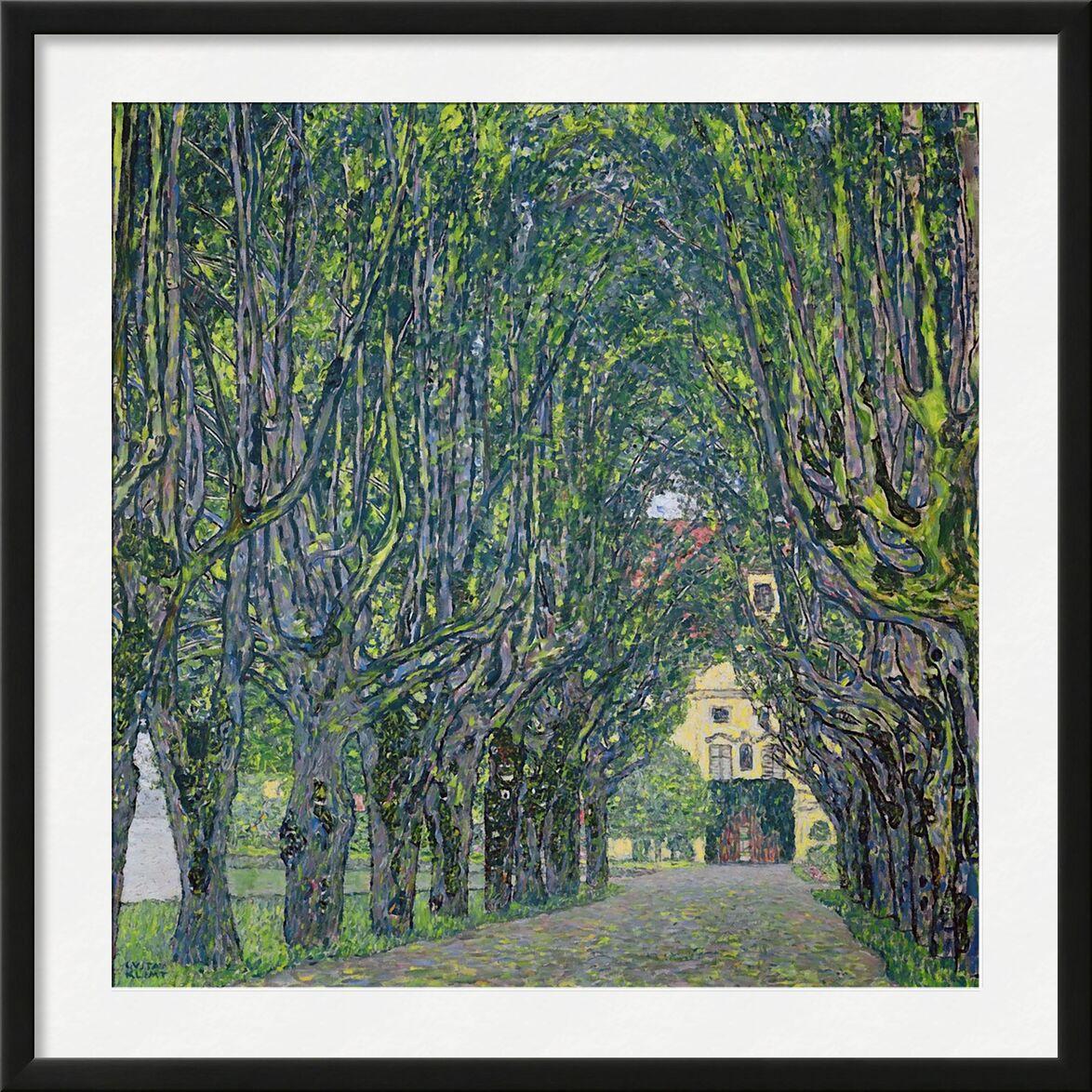 Avenue in the Park of Kammer Castle, 1912 - KLIMT von AUX BEAUX-ARTS, Prodi Art, KLIMT, Malerei, grün, Bäume, Haus, Weg, Gasse