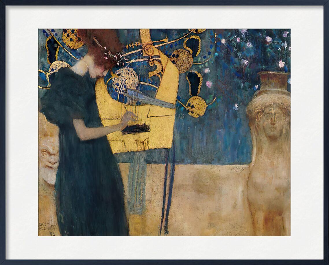 Music, 1895 - KLIMT from AUX BEAUX-ARTS, Prodi Art, KLIMT, painting, woman, music, abstract, green