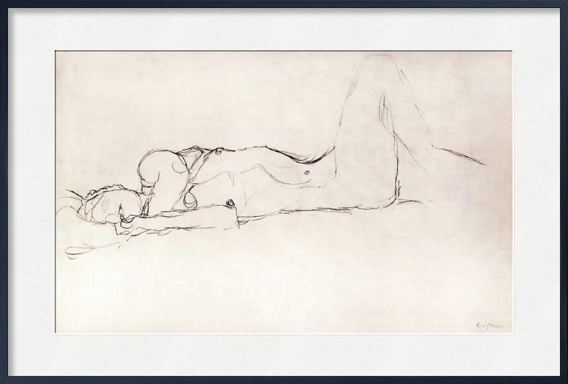 Nude Woman in Bed - KLIMT from AUX BEAUX-ARTS, Prodi Art, sketch, naked woman, nude, woman, pencil drawing, KLIMT
