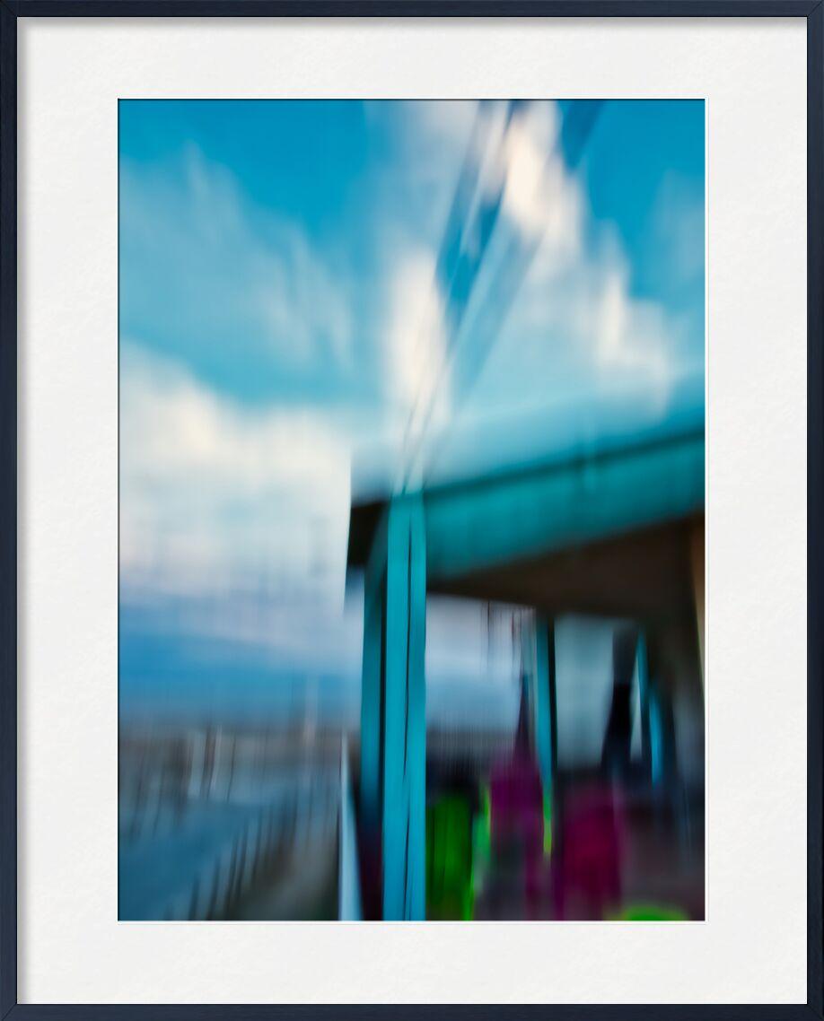 Le chalet de Gruissan en icm de Céline Pivoine Eyes, Prodi Art, bleu, art abstrait, Photographie abstraite, flou artistique, maison, architecture, chalet, Voyage, paysage, Mouvement intentionnel de la caméra, ICM