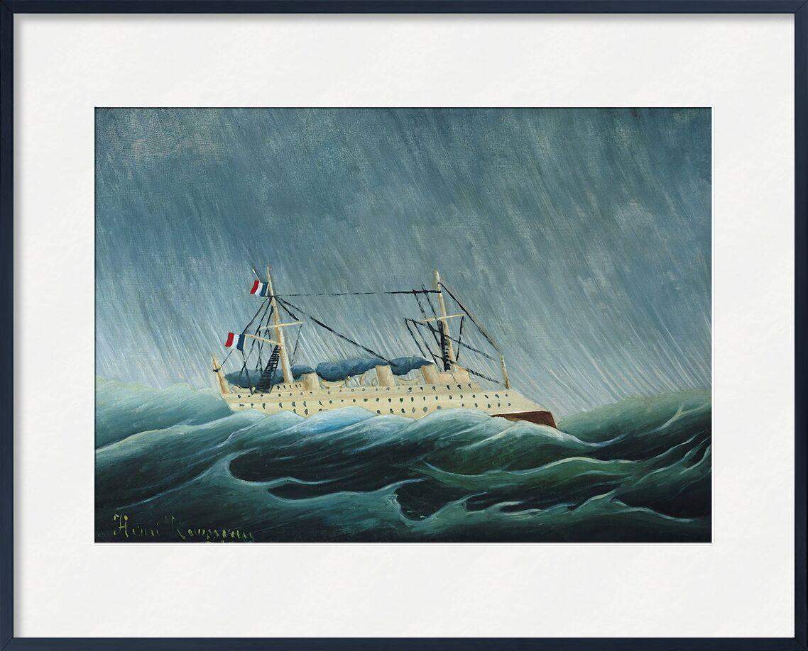 Le Navire dans la tempête de AUX BEAUX-ARTS, Prodi Art, ouragan, pluie, tempête, mer, Rousseau, bateau, navire