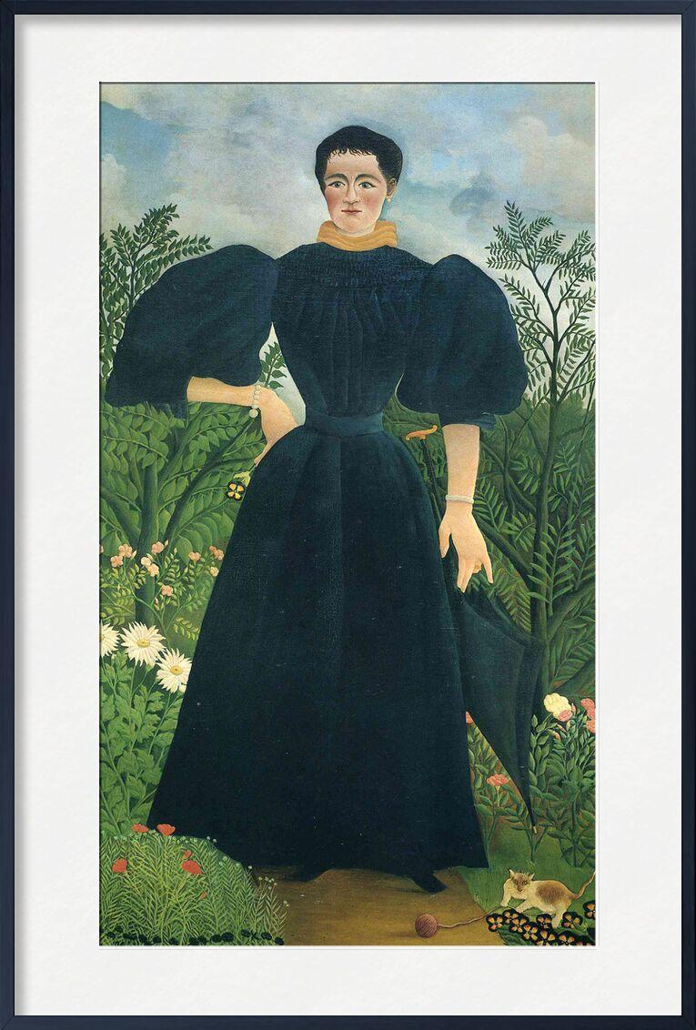 Portrait of a woman von AUX BEAUX-ARTS, Prodi Art, Wald, wild, Natur, Kleid, Porträt, Frau, Rousseau