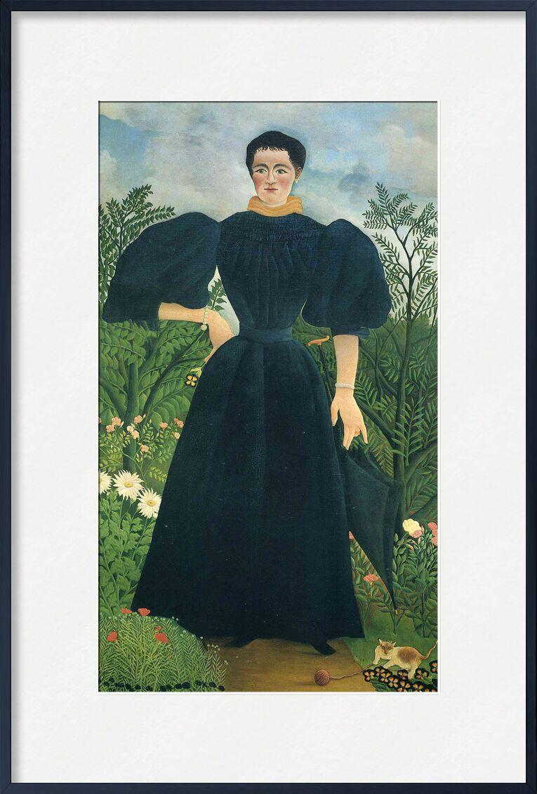 Portrait de femme de AUX BEAUX-ARTS, Prodi Art, forêt, sauvage, nature, robe, portrait, femme, Rousseau