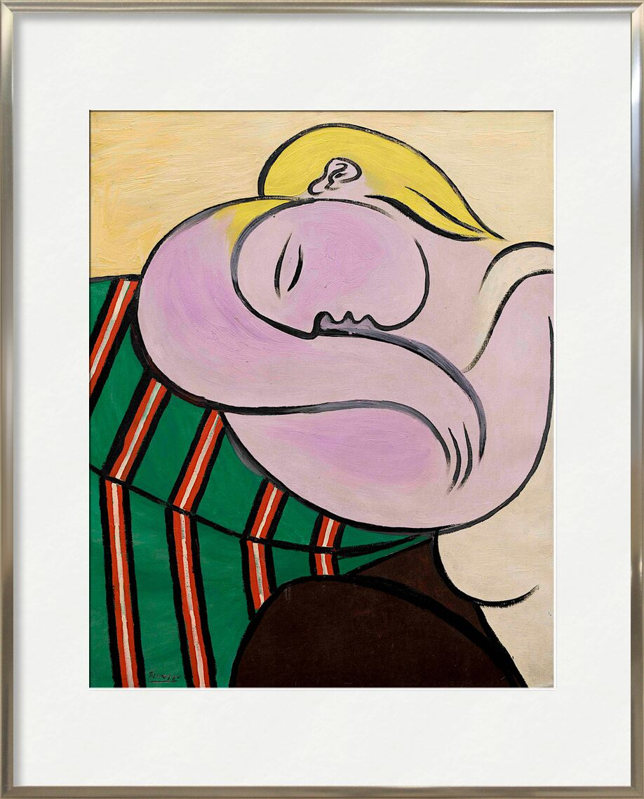 Women with yellow hair from AUX BEAUX-ARTS, Prodi Art, woman, blonde hair, portrait, painting, picasso