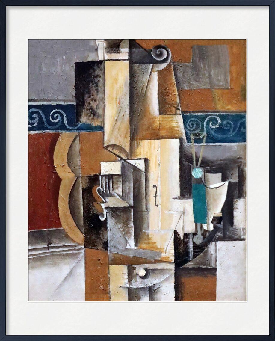 Violin and guitar von AUX BEAUX-ARTS, Prodi Art, Malerei, Picasso, Violine, Gitarre, abstrakt, Kubismus