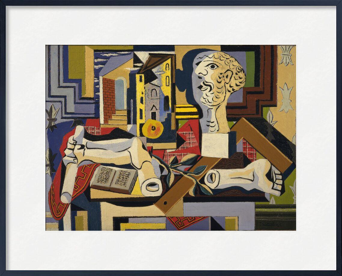 Studio avec tête en plâtre de Aux Beaux-Arts, Prodi Art, picasso, peinture, cubisme, tête, platre