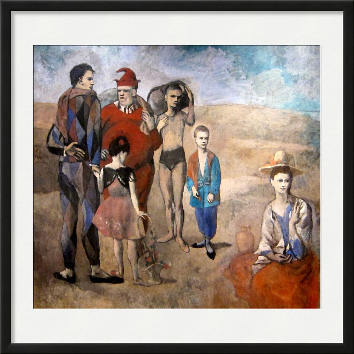 Family of Saltimbanques desde AUX BEAUX-ARTS, Prodi Art, picasso, pintura, familia, playa, verano, arena, acróbatas