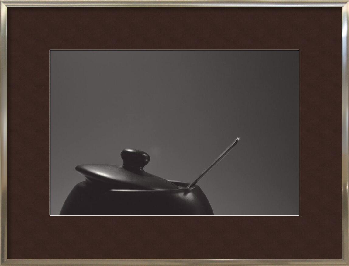 Saucepan from Pierre Gaultier, Prodi Art, spoon, monochrome, pot, cooking, close-up