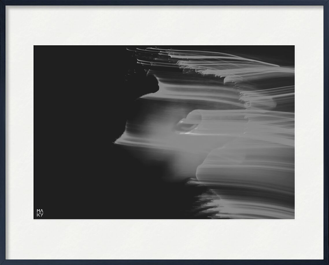 PhaseTransition.2 from Maky Art, Prodi Art, light painting, black and white, portrait, photography