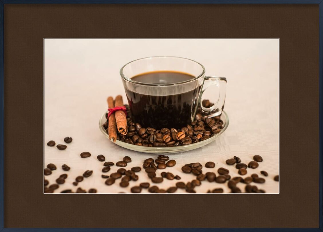 Une tasse et ses grains de Pierre Gaultier, Prodi Art, boisson, Coupe, grains de café, café, caféine