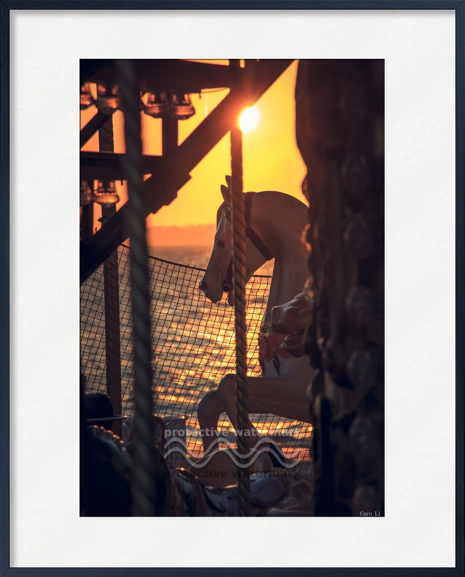 Manège de Caro Li, Prodi Art, manège, carrousel, couché de soleil, coucher de soleil, cheval, manège