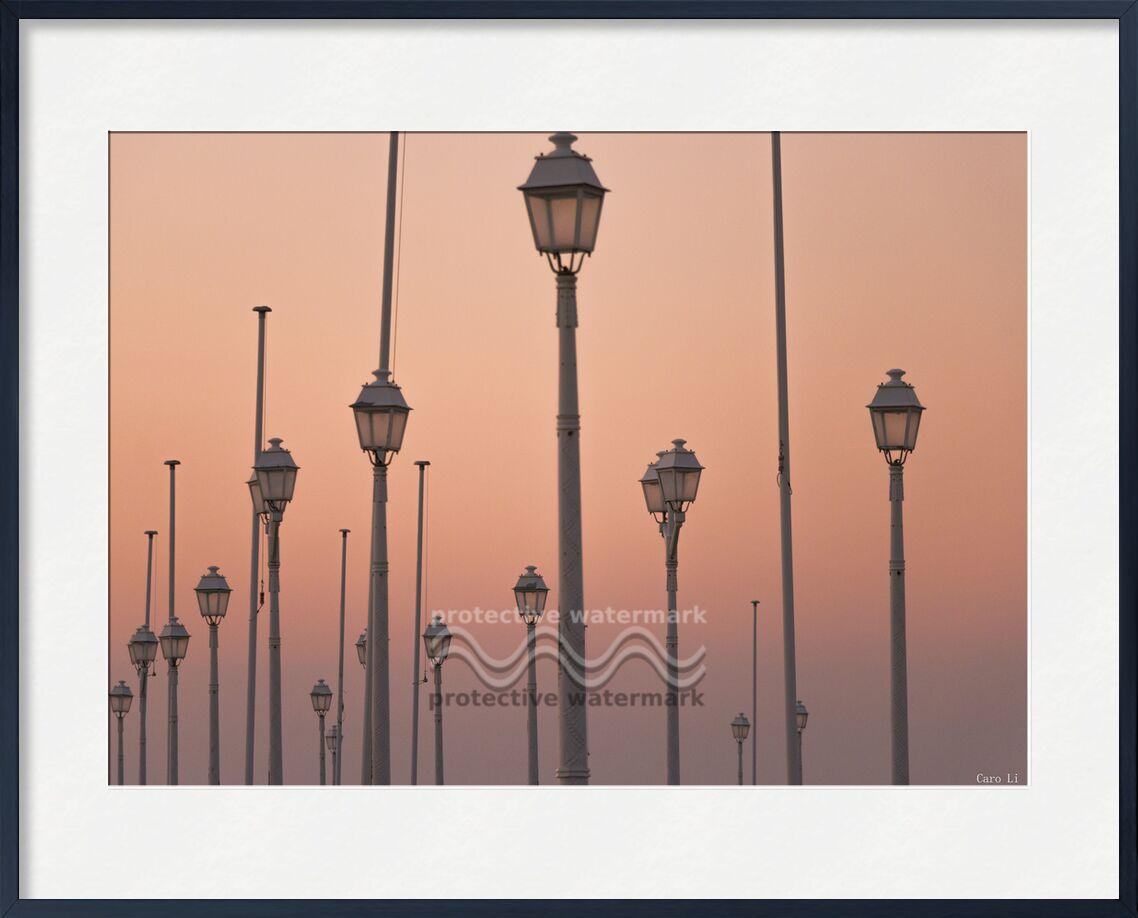 Lights de Caro Li, Prodi Art, couché de soleil, coucher de soleil, paysage, lumières, lampadaires