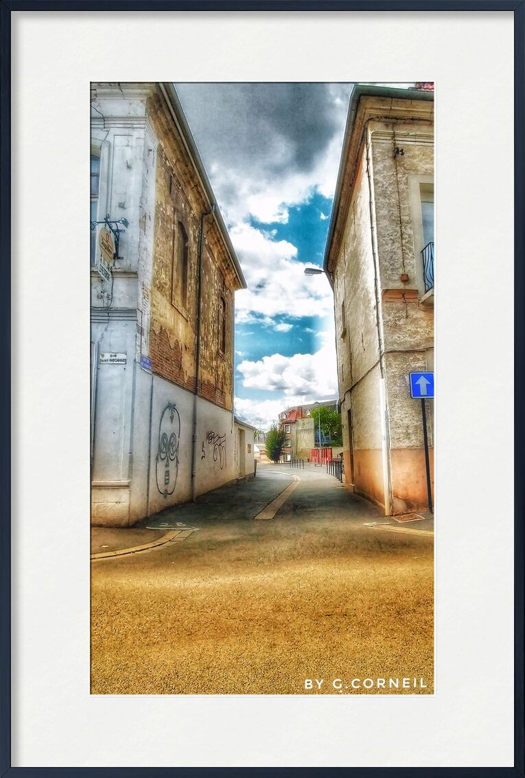 Entre Ciel et Terre - Numéro deux de Guillaume Corneil, Prodi Art, art, rue, bleu, nuages