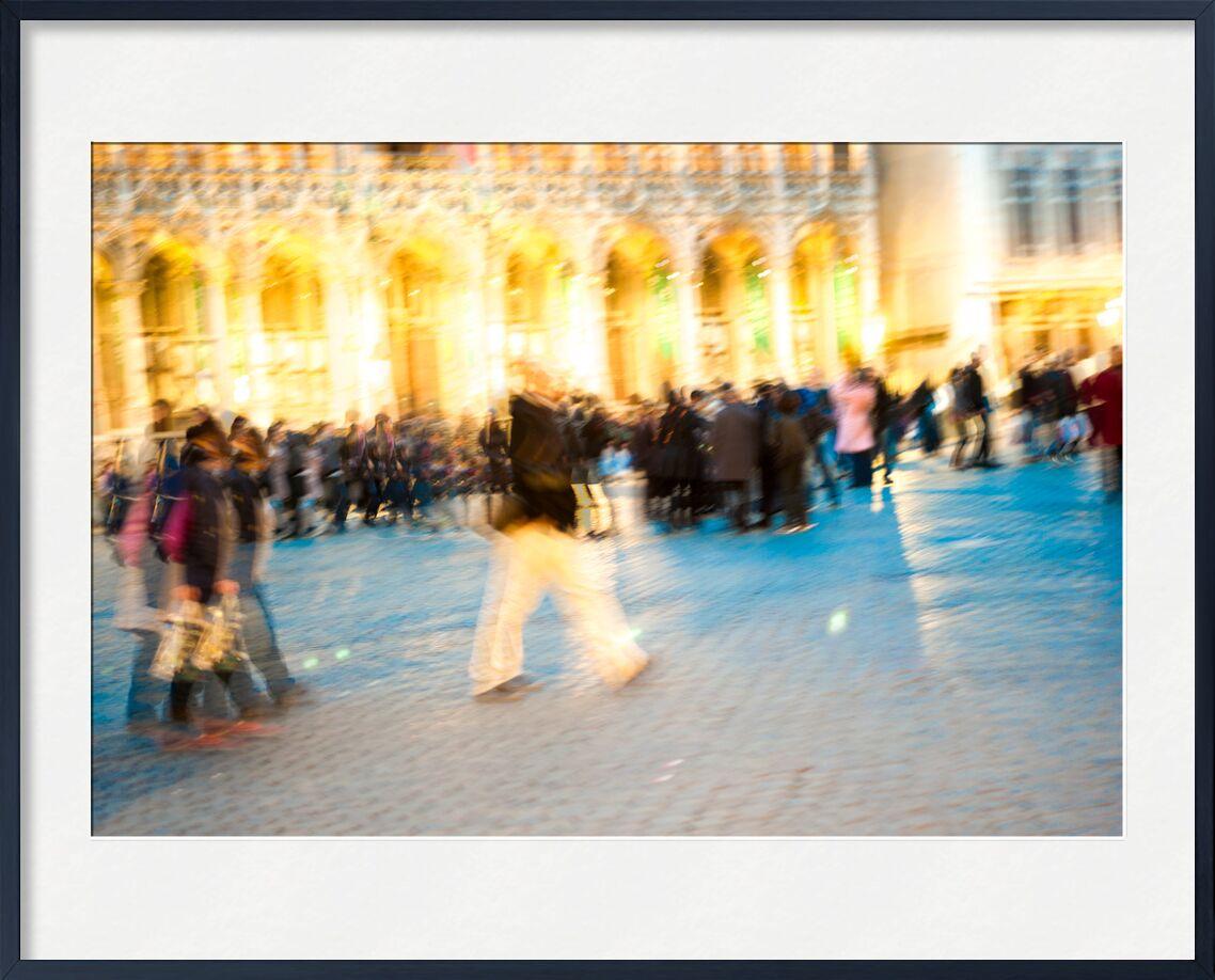 Robot de Pierre Rousseau, Prodi Art, Belgique, Bruxelles, Grand Place, gens, personne, personnages, robot, flou